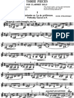 Three Pieces for clarinet solo - I. Stravinsky