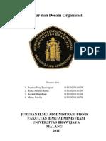 struktur dan desain organisasi