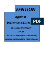 CONVENTION AGAINST WOMEN ATROCITY