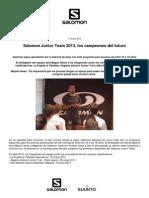 Salomon Junior Team 2013 y entrevista a Miguel Heras. NP oficial Salomon 18ene13