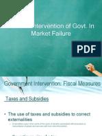 Govt intervention in economy