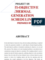 Multi-objective thermal generation sheduling
