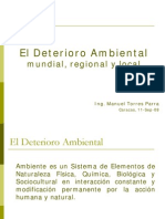 1 El Deterioro Ambiental Manuel Torres Ppt