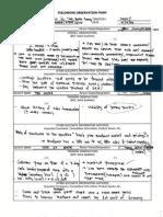 Field Work Observation Report