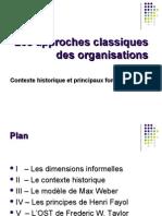 Les approches classiques  des organisations