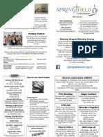 Springfield@Roundshaw News Sheet 20.01.2013