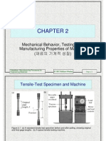 Mechanical Behaviour, Testing and Manufacturing Properties of Materials