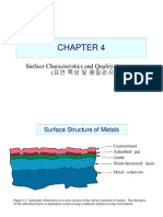 Surface Characteristics and Quality Assurance