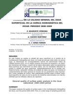 ANÁLISIS DE LA CALIDAD GENERAL DEL AGUA