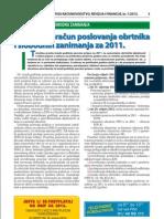 Godišnji obračun poslovanja obrtnika i slobodnih zanimanja za 2011.