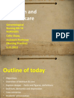 Delirium and related care