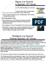 iSixSigma Live Summit Sponsored by AIT Group 2
