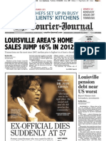 Louisville Courier-Journal front page, 2013-01-16