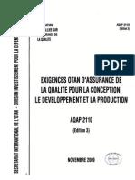 Exigences OTAN d'assurance de la qualité pour la conception, le développement et la production