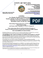 Nevada County BOS Agenda Jan. 22