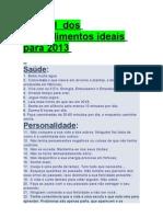 ´Manual dos procedimentos ideais para 2013