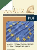 AB'nin Ortadoğu Politikası  Ve Arap Baharına Bakışı