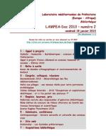 LAMPEA-Doc 2013 - numéro 2 / vendredi 18 janvier 2013