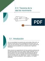 teorema de la cantidad de movimiento fluidos