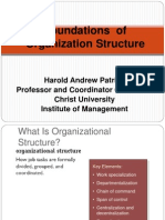 Foundations of Organisation structure