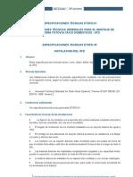 Especificaciones tecnicas montaje de sistemas fotovoltaicos