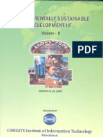 Environmentally sustainable development