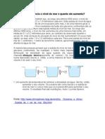 Dilatação Térmica- Aumento do nível do mar