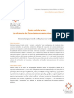 d2bc6e Eficiencia Del Financiamiento Educativo