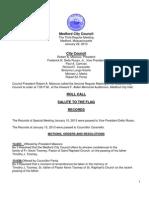 Medford City Council January 23, 2013 Agenda