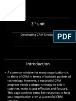 developing crm strategy