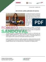 17-01-13 Boletin 1172 Aclara Gobierno den la Gente sueldos publicados de maestros