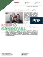17-01-13 Boletin 1176 Busca Gobierno de la Gente trasparentar la función pública
