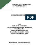 Contabilidad General. área Productividad y Desarrollo Primero Básico