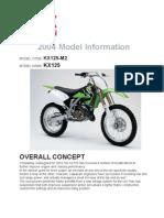 2004 KX125 specs