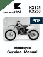 KX125 KX250 94-98 Service Manual