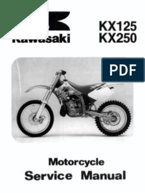 Surprising Kx125 Kx250 94 98 Service Manual Carburetor Throttle Machost Co Dining Chair Design Ideas Machostcouk