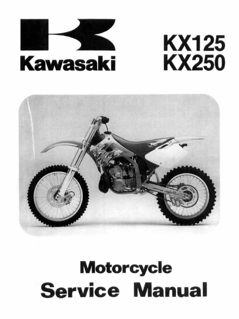 kx125 kx250 94 98 service manual rh es scribd com 1974 KX125 2002 KX125