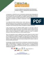 Comunicado sobre la elección de Gerardo Laveaga como Comisionado Presidente del IFAI