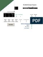 RC Beam design excelsheet