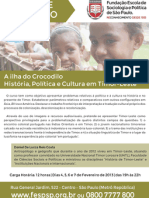 A Ilha do crocodilo - curso de extensao universitaria