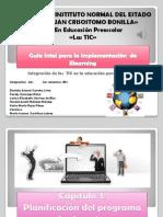 Diapositivas de lectuta y actividad Planificación del programa de elearning