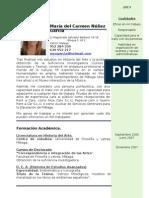 Currículum Vitae María del Carmen Núñez García