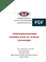 ENSAYO SOBRE POLITICAS GUBERNAMENTALES.