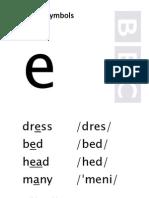 vowel e