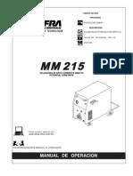 manual de la maquina soldadura ANFRI