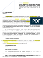 Formato Amparo Personas Morales