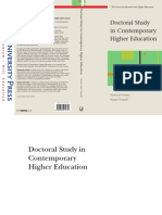 Doctoral Study in Contemporary Higher Education (Society for Research Into Higher Education)