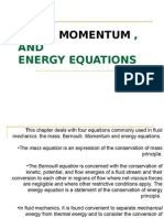 Mass, Momentum and Energy Equations