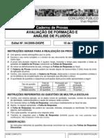 IFRN Professor Avaliacao de Formacao e a-Nalise de Fluidos