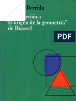 Introduccion a El origen de la geometria de Husserl